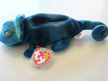 "Ty BEANIE IGGY the IGUANA MISPRINT on TT - says ""RAINBOW!!!"" ***RARE FIND**** in Okinawa, Japan"