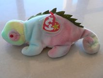 "Ty BEANIE Rainbow the IGUANA MISPRINT on TT - says ""IGGY!!!"" ***RARE FIND**** in Okinawa, Japan"