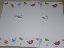 NIP!!  2 Bird Design Computer Paper  (40 Sheets Each!) in Okinawa, Japan